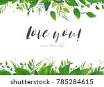 vector card floral design with... | Shutterstock .eps vector #785284615