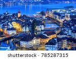 Lucerne Old Town And Lake...