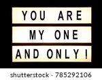 you are my one and only hanging ... | Shutterstock . vector #785292106