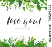 vector card floral design with... | Shutterstock .eps vector #785295208