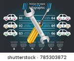 business paper infographics.... | Shutterstock .eps vector #785303872