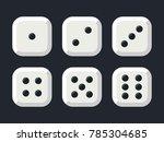 craps. white dice vector... | Shutterstock .eps vector #785304685