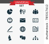 job icons set with leader ... | Shutterstock .eps vector #785317612