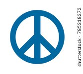 blue peace icon | Shutterstock .eps vector #785318272