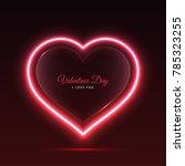 banner screen neon heart | Shutterstock .eps vector #785323255