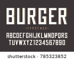 burger vector retro regular... | Shutterstock .eps vector #785323852