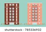 apartment building illustration | Shutterstock .eps vector #785336932