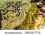 lanna style wood carving in... | Shutterstock . vector #785337772