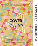 geometric cover design.... | Shutterstock .eps vector #785342266