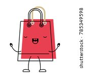 trapezoid animated kawaii... | Shutterstock .eps vector #785349598