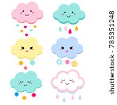 cute clouds illustration for... | Shutterstock . vector #785351248