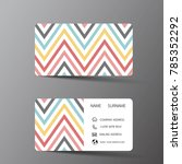 modern business card template... | Shutterstock .eps vector #785352292