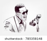ray charles vector sketch... | Shutterstock .eps vector #785358148