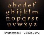 set of elegant gold colored... | Shutterstock .eps vector #785362192