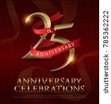 25th years anniversary... | Shutterstock .eps vector #785362222