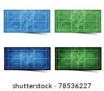 grunge badminton  field... | Shutterstock . vector #78536227