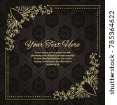 gold frame made in vector....   Shutterstock .eps vector #785364622