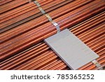 copper ground rod texture | Shutterstock . vector #785365252