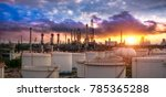 oil and gas industry   refinery ... | Shutterstock . vector #785365288