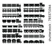 train toy children icons set....   Shutterstock .eps vector #785371066