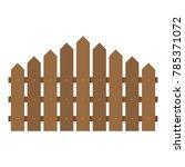 triangular fence icon. flat... | Shutterstock .eps vector #785371072