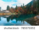 beautiful crystal clear water... | Shutterstock . vector #785373352