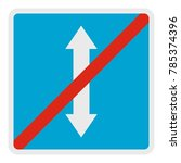 end reverse motion icon. flat... | Shutterstock .eps vector #785374396