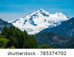 mountain with snow and forest.... | Shutterstock . vector #785374702