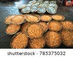 boiled little shrimp baskets.... | Shutterstock . vector #785375032
