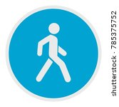 walking man icon. flat... | Shutterstock .eps vector #785375752