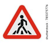 crosswalk icon. flat... | Shutterstock .eps vector #785375776