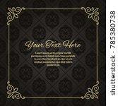 gold frame made in vector.... | Shutterstock .eps vector #785380738