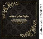 gold frame made in vector....   Shutterstock .eps vector #785380792