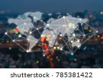 big data connections. iot  ... | Shutterstock . vector #785381422