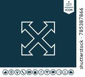 extend  resize  enlarge line... | Shutterstock .eps vector #785387866