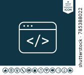 code editor icon | Shutterstock .eps vector #785388022