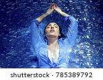 fashion girl beautiful woman in ...   Shutterstock . vector #785389792