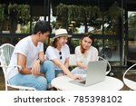 asian  freelancer smart  team... | Shutterstock . vector #785398102