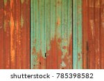 old rusty zinc plate wall  old... | Shutterstock . vector #785398582