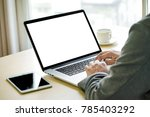 workspace background new... | Shutterstock . vector #785403292