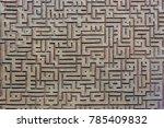 beautiful stucco work in pir i... | Shutterstock . vector #785409832