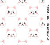 seamless pattern with cartoon... | Shutterstock .eps vector #785410582