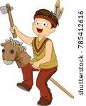 illustration of a kid boy...   Shutterstock .eps vector #785412616