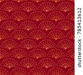 asian pattern. kabuki. japanese ...   Shutterstock . vector #785413612