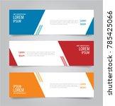 banner template design.... | Shutterstock .eps vector #785425066