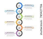 circle infographic template six ... | Shutterstock .eps vector #785427706