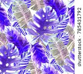 watercolor seamless pattern...   Shutterstock . vector #785431792