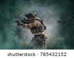 soldiers in special forces ...   Shutterstock . vector #785432152