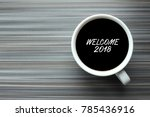 business concept. coffee cup on ... | Shutterstock . vector #785436916