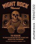 rock poster template | Shutterstock .eps vector #785437222